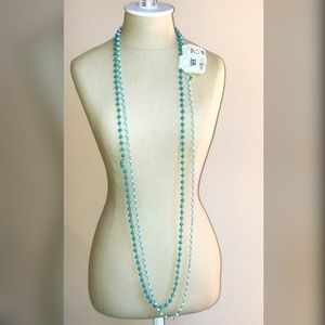 NEW Extra Long Blue & Teal Beaded Necklaces